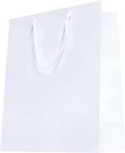 Achat en ligne Sac pochette cadeau blanc laqué 7x15cm