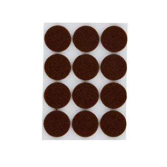 Patin adhésif rond feutre brun Ø22X12mm