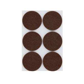 Patin adhésif rond feutre brun Ø32x6mm