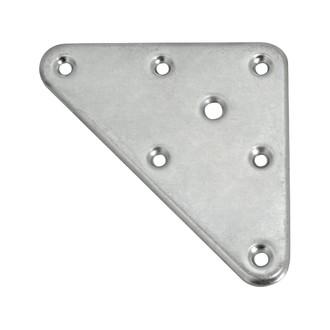 Platine de fixation pour pied de meuble en acier zingué 90x120mm