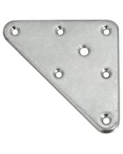 Achat en ligne Platine de fixation pour pied de meuble  en acier zingué 90x120mm