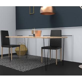 Pied pour table en filaire noir H71cm