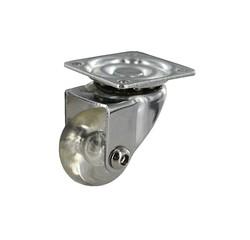 Achat en ligne Roulette roll pivotante translucide D35 20KG