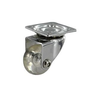 Roulette roll pivotante translucide D35 20KG