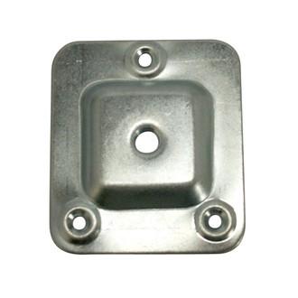 Set de 4 platines carrées en acier zingué 66x58mm