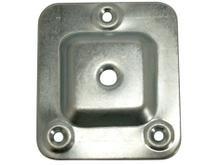 Achat en ligne Set de 4 platines carrées en acier zingué 66x58mm