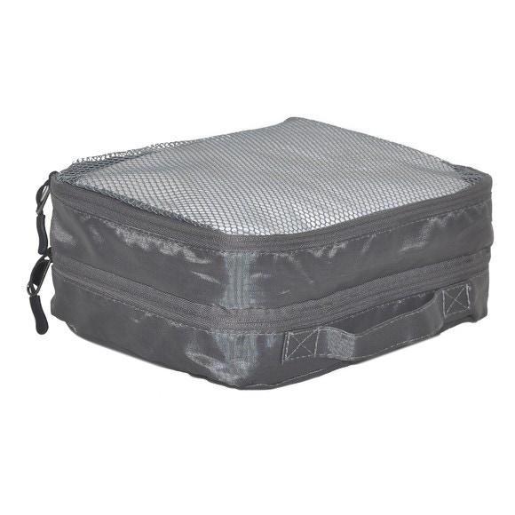Housse de voyage à vêtements 2 poches grises