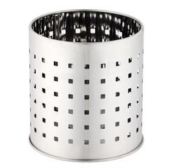 compra en línea Escurrecubiertos perforado acero inoxidable plata (Ø12 x 10 cm)