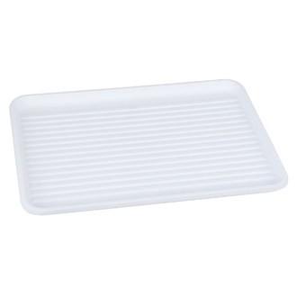 Plateau égouttoir en plastique blanc 43,5x32,5cm