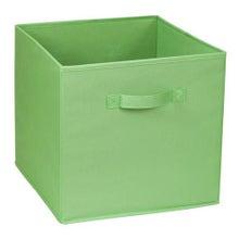 Achat en ligne Bac de rangement en polyester tissé vert 31x31x31cm
