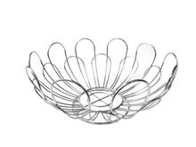 Achat en ligne Corbeille à fruit en forme de fleur chrome 26x13cm
