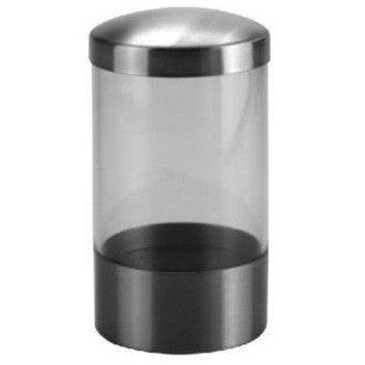 Pot à coton en plastique et inox Loft