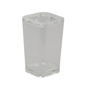 Porte brosse à dents en plastique transparent Kristal