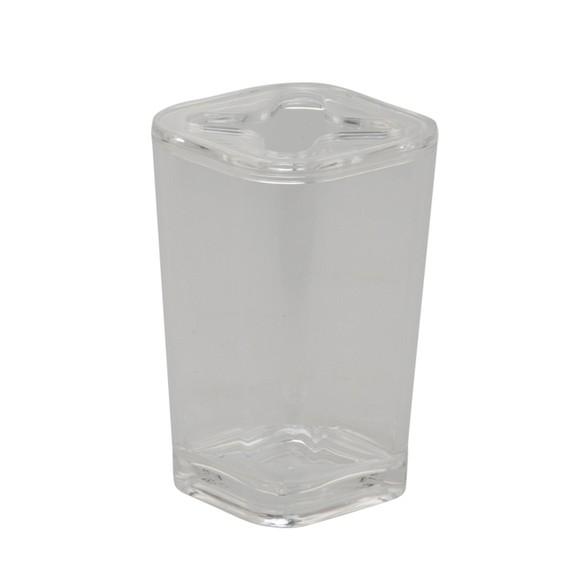 acquista online Porta spazzolino in plastica trasparente