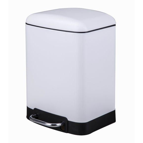Achat en ligne Poubelle de salle de bain rectangulaire blanc 6L