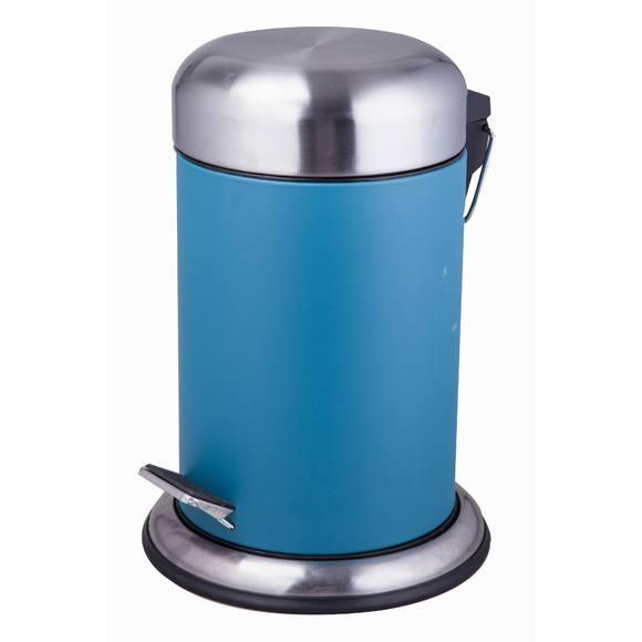 Poubelle de salle de bain bleu temp te avec couvercle et for Poubelle de salle de bain bleu
