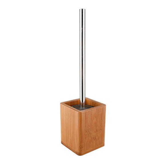 acquista online Scopino WC con base quadrata in bambù