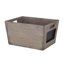 Achat en ligne Caisse en bois avec ardoise 39x29x20cm