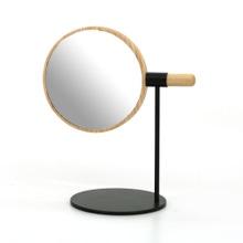 Achat en ligne Miroir maquillage à poser amovible bois et métal 45x33x24cm