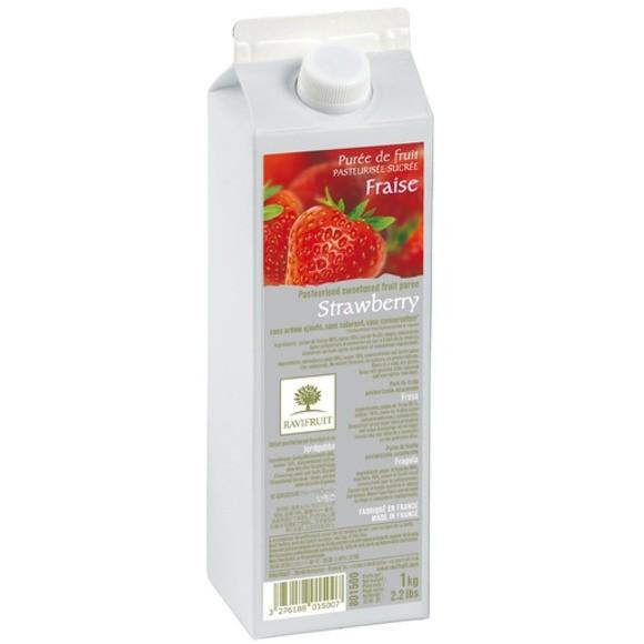Purée de fraises brique 1kg