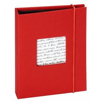 Album photo 36 vues pochettes rouge linea 11,5x11,5cm