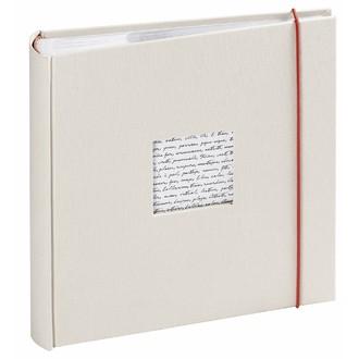 Album photo traditionnel 200 vues blanc cassé Linea 11,5x15cm