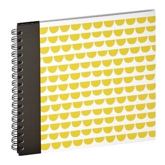 Album à spirales 60 vues écaillé moutarde 10x15cm