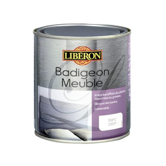 Badigeon pour meubles de cuisine mat blanc coton en pot 0,5l