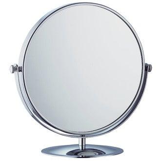 Miroir grossissant rond à poser double face X5 diamètre 20cm