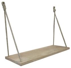 compra en línea Estante colgante de roble con cuerda (60 x 23,5 cm)