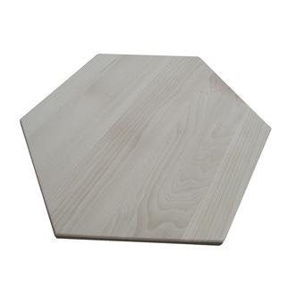 Plateau hexagonale en hêtre massif 50cm