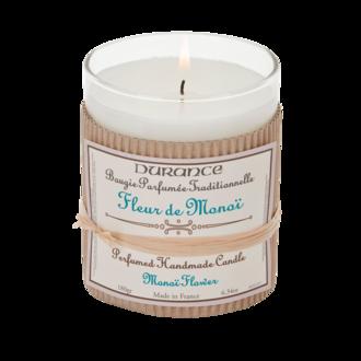 DURANCE - Bougie parfumée fleur de monoï 180g