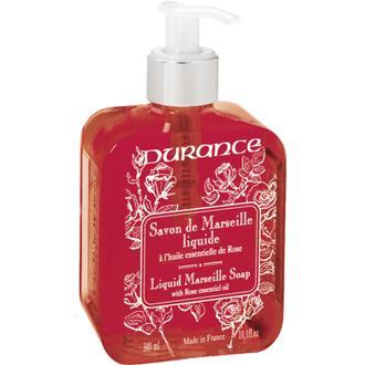 Durance - distributeur de savon de marseille liquide rose 300 ml