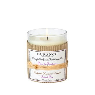 DURANCE - Bougie parfumée traditionnelle pois de senteur 180 gr