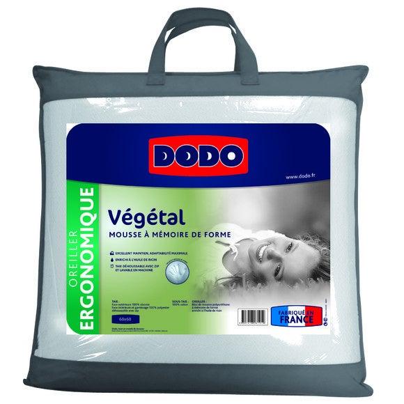 Oreiller carré à mémoire de forme Visco végétal 60x60cm