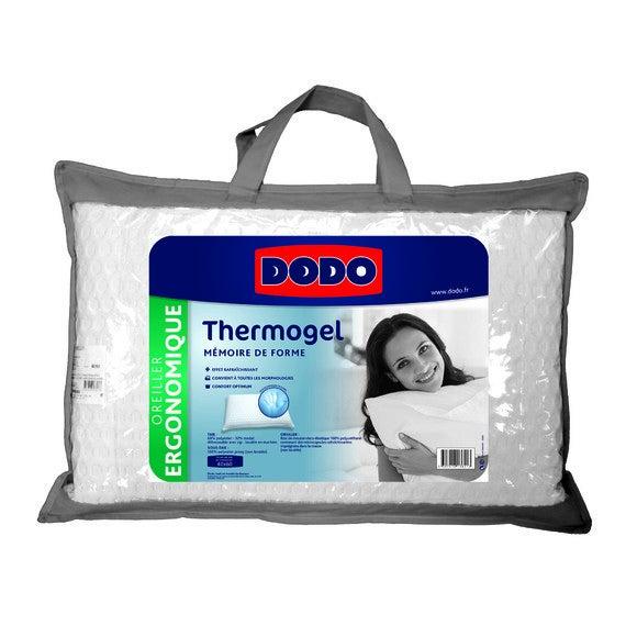Oreiller rectangle à mémoire de forme thermogel 40X60cm
