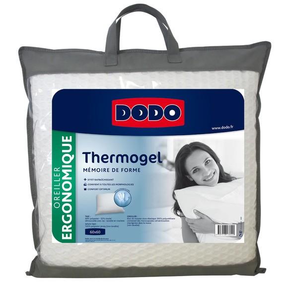 Oreiller carré à mémoire thermogel 60X60cm