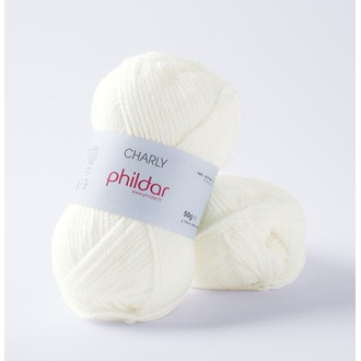 PHILDAR - Pelote de laine Charly craie - 50g