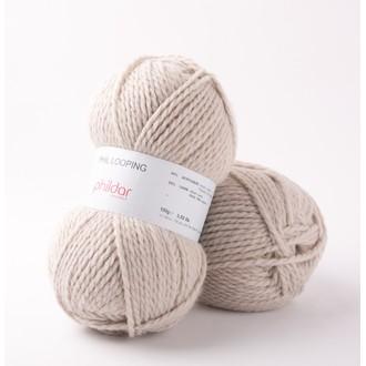 Phildar- pelote de laine biche looping 100g