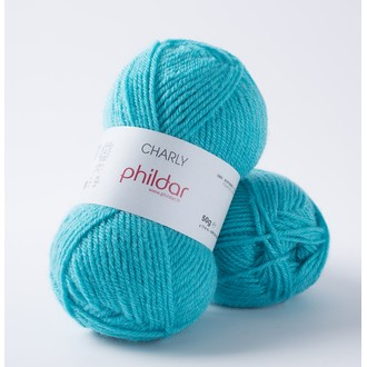 PHILDAR - Pelote de laine Charly turquoise - 50g