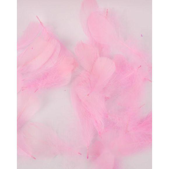 Plumes rose pâle 100% plume d'oie