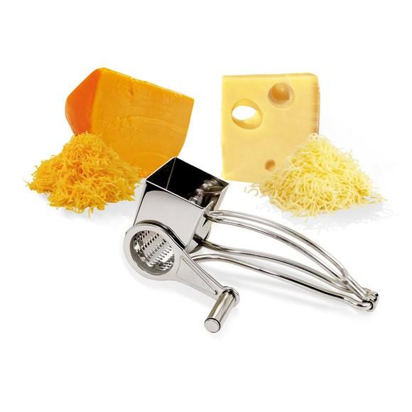 Grattuggia a manovella per formaggio in acciaio inox