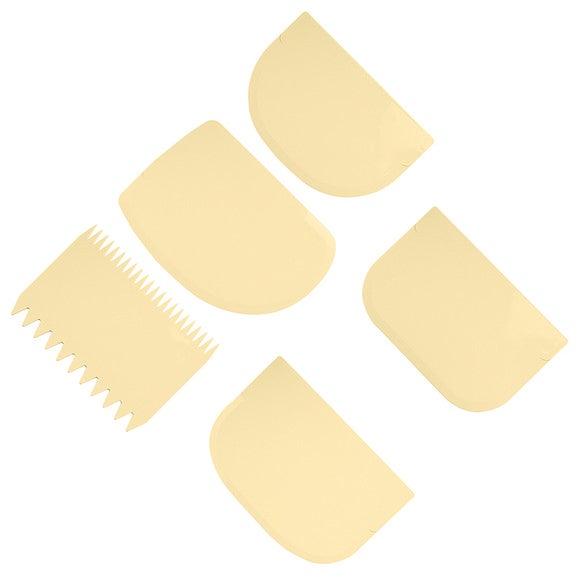 Set di 5 spatole raschietto in plastica 11 x 9 cm