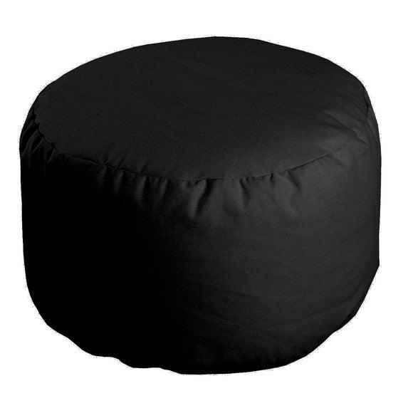 Achat en ligne Pouf rond noir Roméo 50x30cm