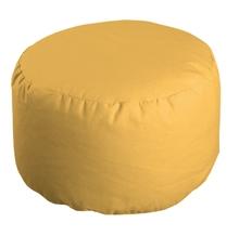 Achat en ligne Pouf rond jaune Romeo 50x30cm