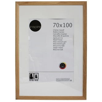 Cadre photo 70x100 chêne naturel nakato avec passe-partout