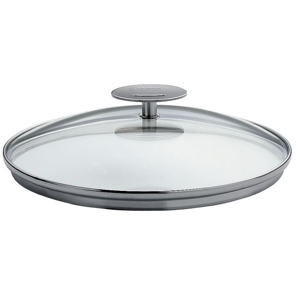 Coperchio in vetro platino, 28 cm