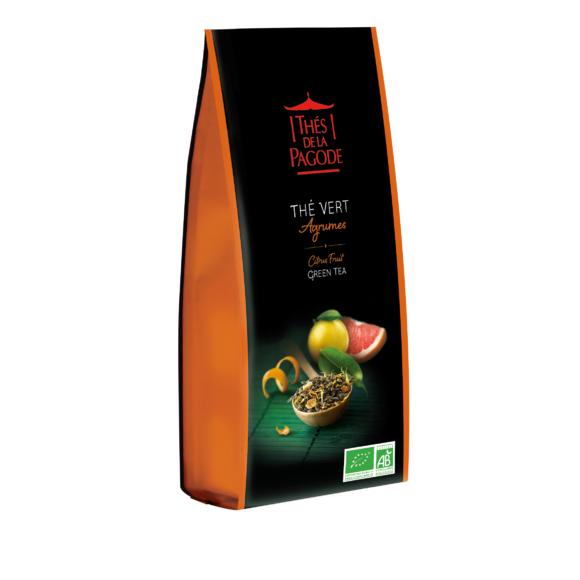 Thé vert bio aux agrumes vrac 100g