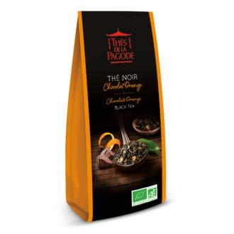 THE DE LA PAGODE Thé noir chocolat orange bio en paquet
