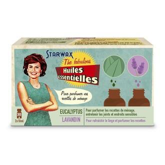 STARWAX - Coffret de 2 huiles essentielles parfum lavande et eucalyptus